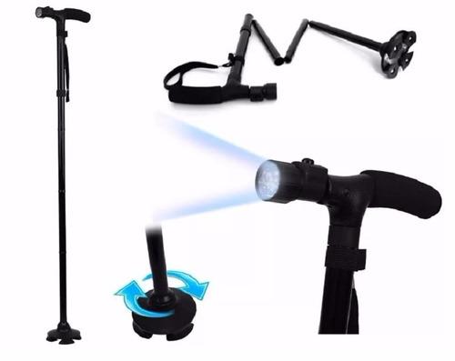 baston plegable ajustable linterna led trusty cane tv 5nivel