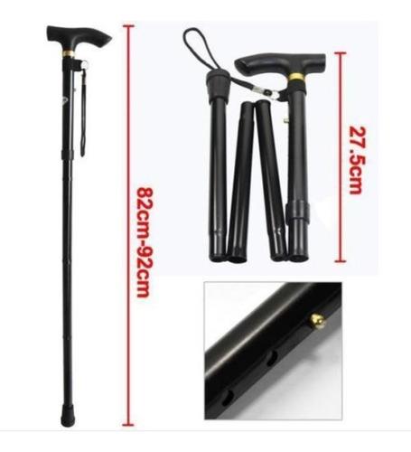 bastón plegable en aluminio ajustable apoyo económico
