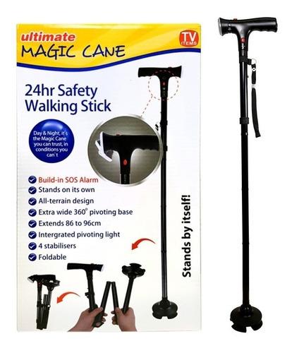 bastón plegable, luz led, base articulada, ultimate magic