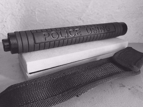 bastón retráctil 19  pulgadas defensa personal policía funda