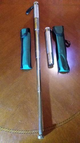 bastón retráctil defensa personal con funda 65 cm 4 cuerpos