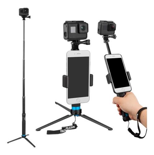 bastón retráctil selfie stick monopod para gopro hero 7 6 5
