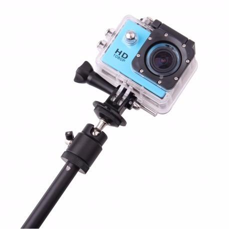 baston selfie monopod para camara gopro sjcam con adaptador