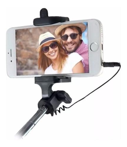 baston selfie palo monopod c/cable soporte celular cámara