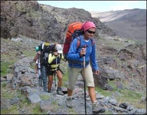 baston telescopico antishock trekking senderismo con brujula