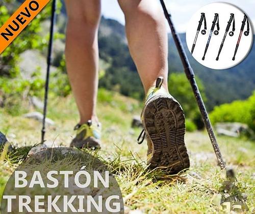 baston trekking aluminio retractil antishock camping 110cm