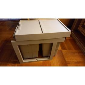 Basurero Para Mueble De Cocina Para Interior 2 Baldes 16 Lt