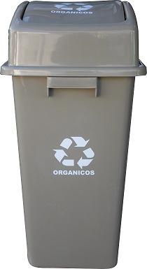 basurero plástico ecológico capacidad 50 litros