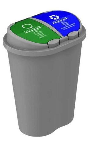 basurero plástico para reciclaje