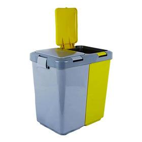 Basurero Tacho Doble De 10 Litros  Reciclable