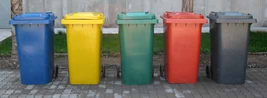 Basureros de plasticos en colores para reciclaje 99 - Colores para reciclar ...