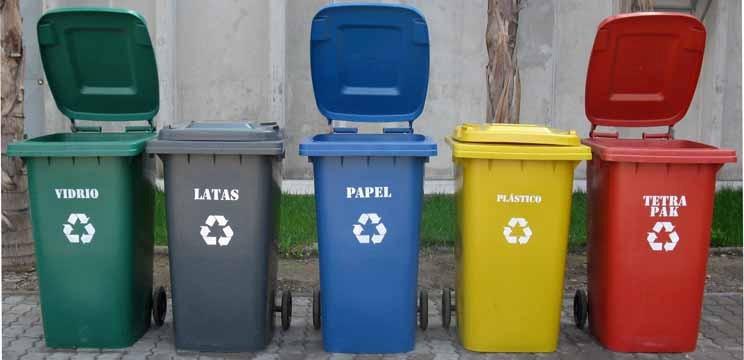 Basureros de plasticos en colores para reciclaje en mercado libre - Contenedores de basura para reciclaje ...