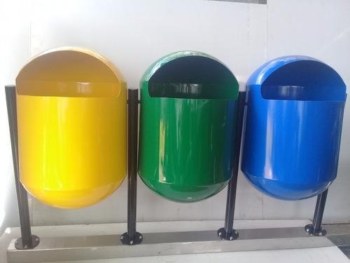 basureros metálicos y estaciones ecológicas en acero inoxida