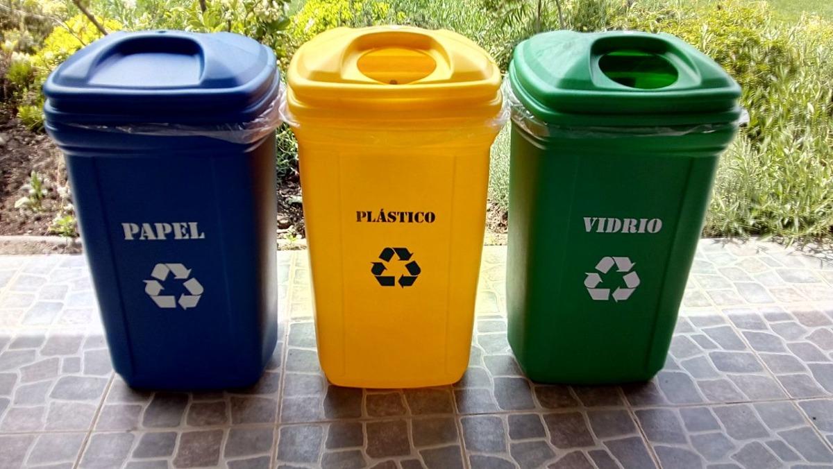 Basureros para reciclaje en mercado libre - Colores para reciclar ...
