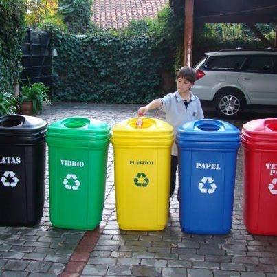 Basureros y o contenedores pl sticos para reciclaje 35 - Colores para reciclar ...