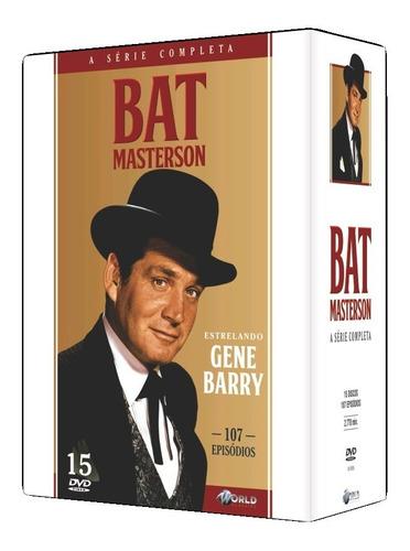 bat masterson - a série completa - box com 15 dvds - novo