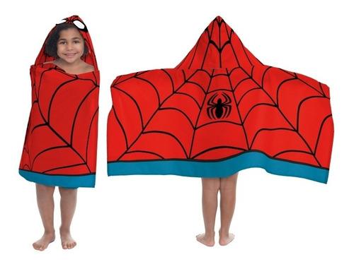 bata batita para niños toalla spider man hombre araña marvel