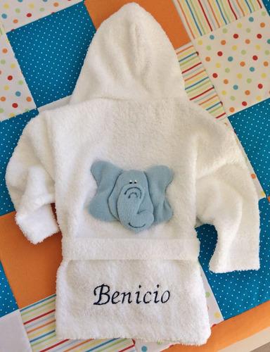 bata bebe talle 0 salida baño niños personalizada con nombre