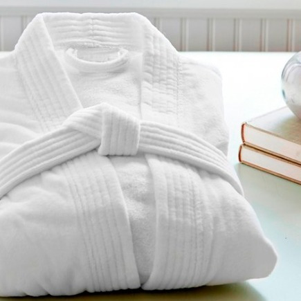 bata de baño premium algodón 470g spa hotel