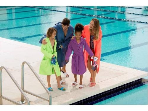 bata de microfibra ultra absorbente capucha natación dama