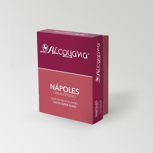 bata de microflanel alcoyana softtouch aterciopelado en caja