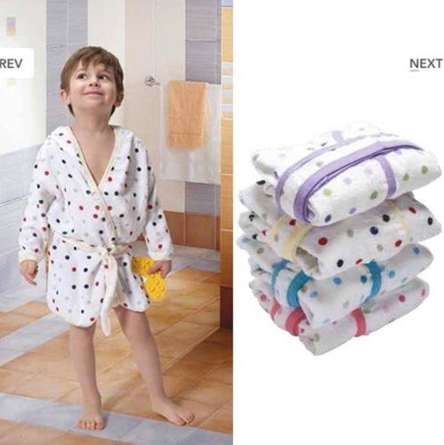bata de toalla de bebe salida de baño nena varon capucha