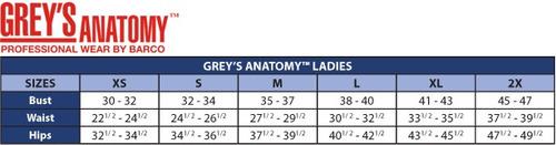 bata medica grey's anatomy modelo 7446 para dama