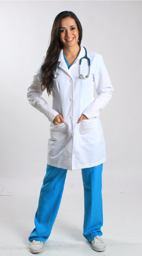 bata médica o bata de laboratorio unimed envio gratis