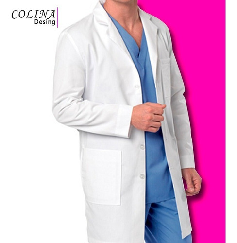 bata medica unisex, enfermeria, odontologo, modelo galipan