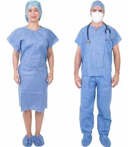 bata paciente sin mangas $0,80 batas cirujano manga larga,