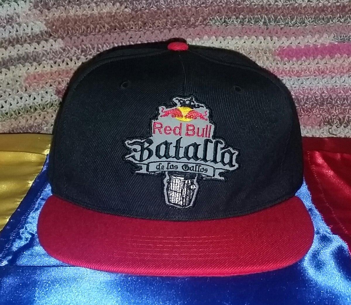 1b4658244b78d Batalla De Los Gallos Red Bull Gorra Plana Snapback Energy ...