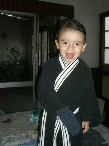 batas de baño infantiles - tela de toalla - 100% algodon