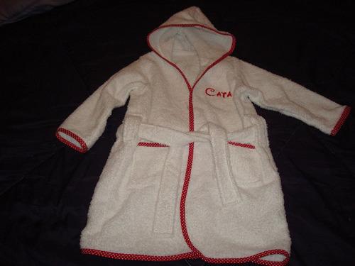 batas de toalla para bebè y niños personalizada