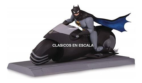 batcycle luz led + batman figure set - dc collectibles 1/12