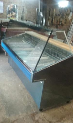 batea carnicería 2mts vidrio recto