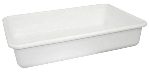 batea plástica carnicera blanca 45x32x8.5cm indeformable