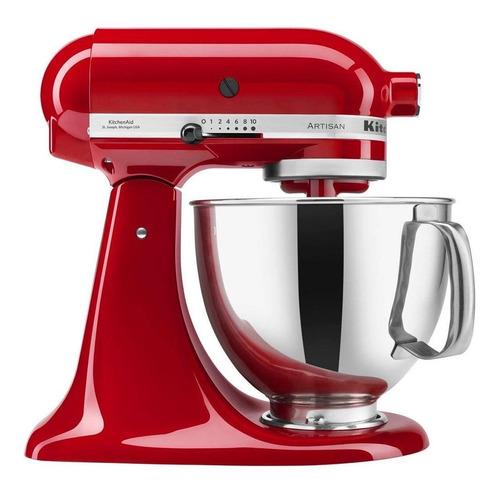 batedeira planetária kitchenaid artisan vermelha 220v