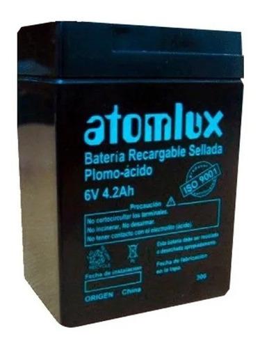 baterìa 6v recargable sellada atomlux p/luz emergencia y ups