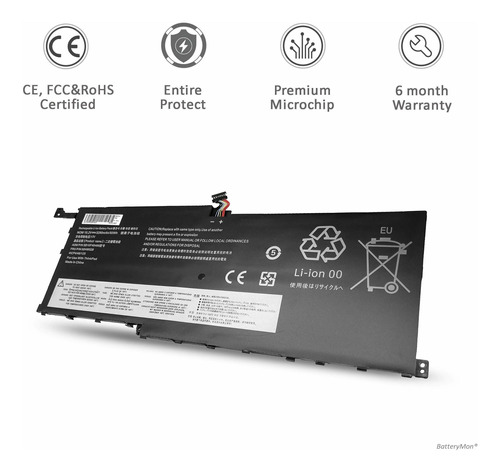 bateria 00hw028 para lenovo thinkpad x1 carbon 4th 6th gen/thinkpad x1 yoga ultrabook p/n: 00hw029 sb10f46466 sb10f46467
