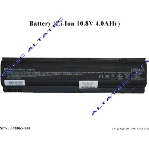 bateria 10.8v 4.0ahr notebook pn:382552-004