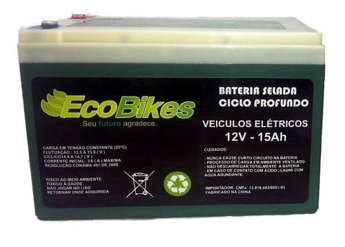 bateria 12v 15ah bicicleta elétrica scooter patinete skate