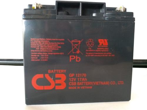 bateria 12v 17ah csb no break sms gp12170  175,00