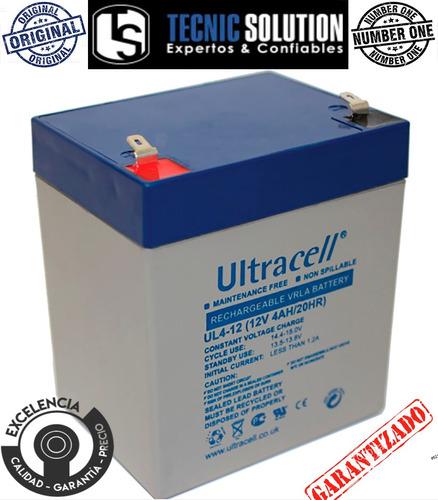 bateria 12v 4ah ultracell para alarmas, ups, cerco eléctric