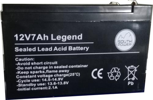 bateria 12v 7a 7ah alarma legend