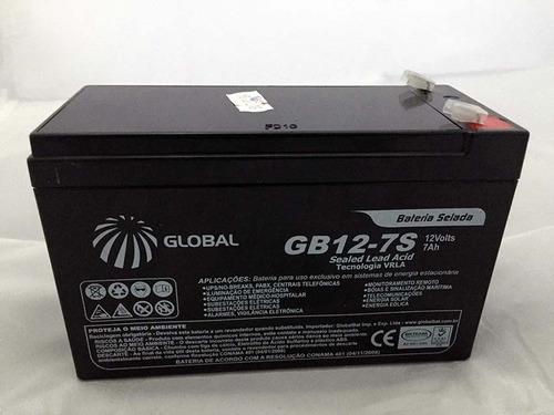 bateria 12v 7ah selada - para nobreak alarme cerca eletrica
