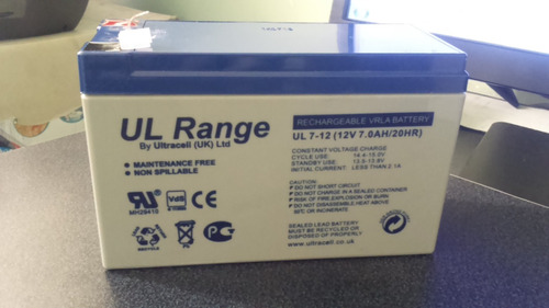 bateria 12v 7ah ultrcell para ups, alarmas, cerco electrico