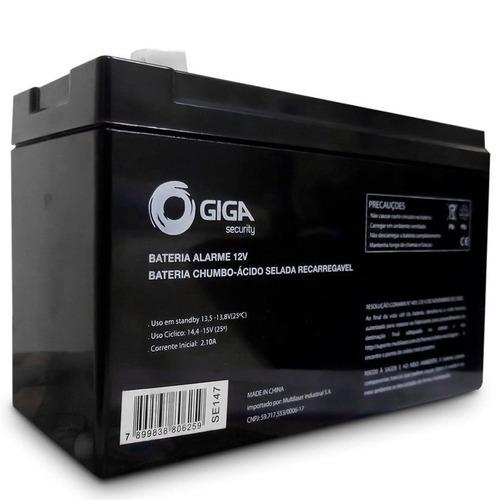 bateria 12v alarme e cerca elétrica giga security gs0077