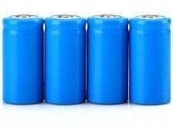 bateria 16340 - 3000mah 3.7v - li-íon recarregável