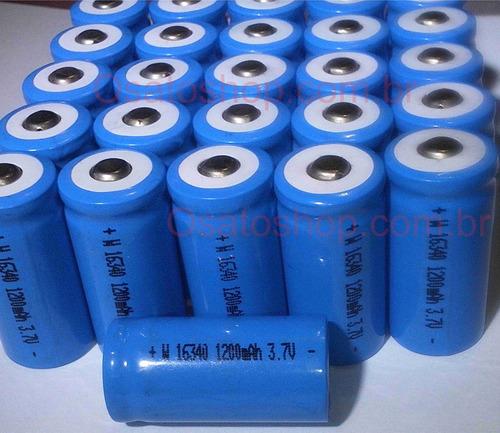 bateria 16340 recarregável li-ion 3.7v 1300mah lanterna