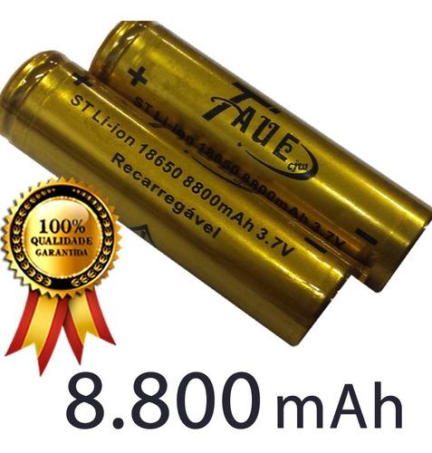 bateria 18650 8800mah 3.78v recarregável li-ion taue 2 und